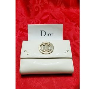 Christian Dior vintage classy patent wallet